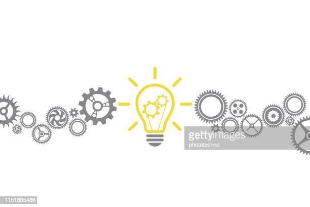 new idea solution concepts with light bulb - innovation stock illustrations
