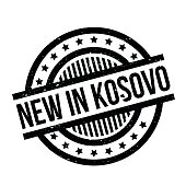 New In Kosovo rubber stamp