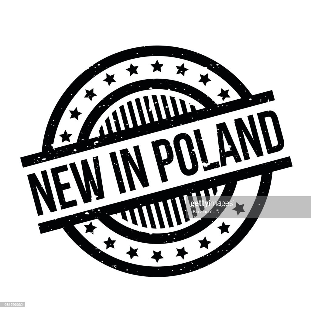 New In Poland rubber stamp