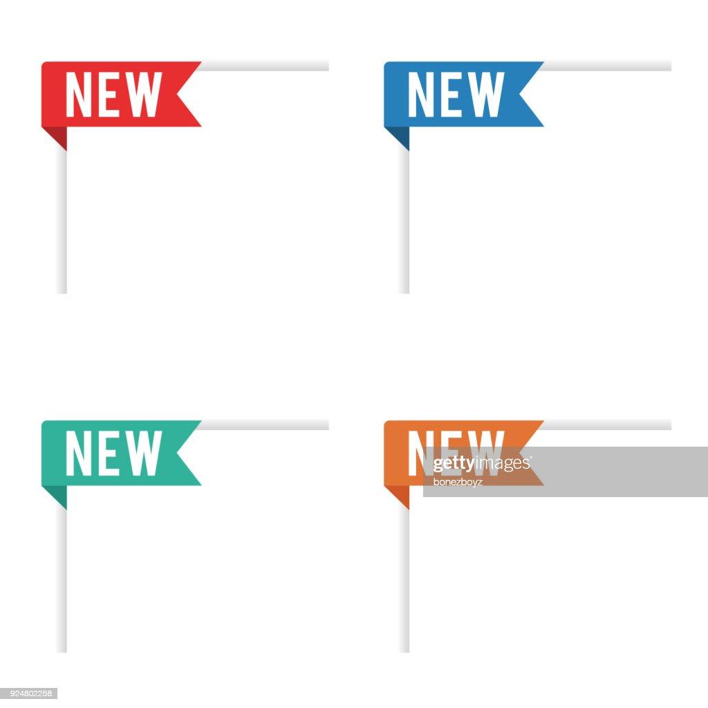 New Item Ribbon Tag Labels