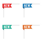 New Item Ribbon Tag Labels