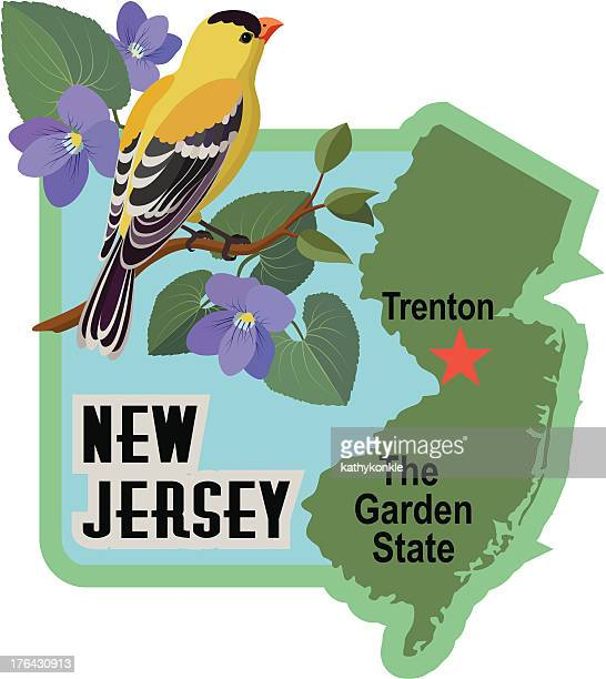New Jersey luggage label or travel sticker