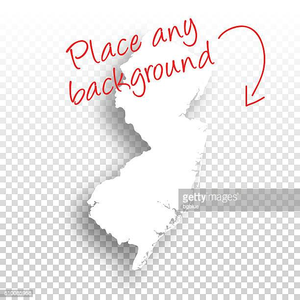 New Jersey Map for design - Blank Background