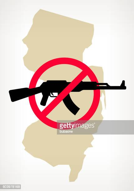 Nueva Jersey No arma violencia Vector Poster
