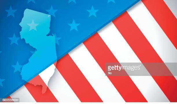 New Jersey Patriotic Flag Background