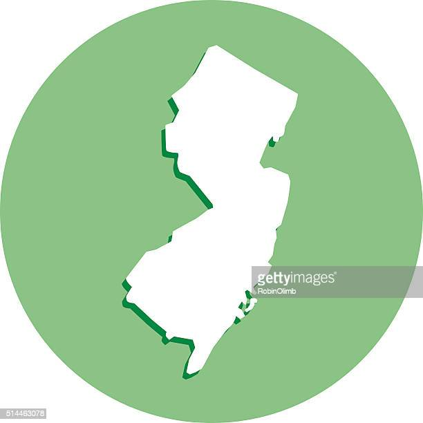 New jersey Round Map Icon