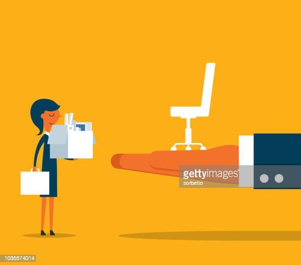 new job - businesswoman - new home stock illustrations, clip art, cartoons, & icons