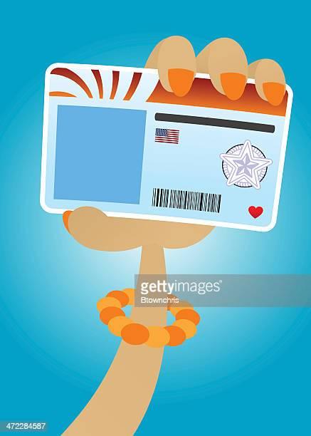 illustrations, cliparts, dessins animés et icônes de nouvelle licence pour une femme - permis de conduire