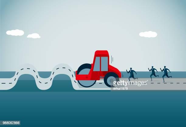 new life - road construction stock illustrations