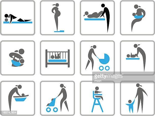 ilustraciones, imágenes clip art, dibujos animados e iconos de stock de nuevo en vivo - lactancia materna