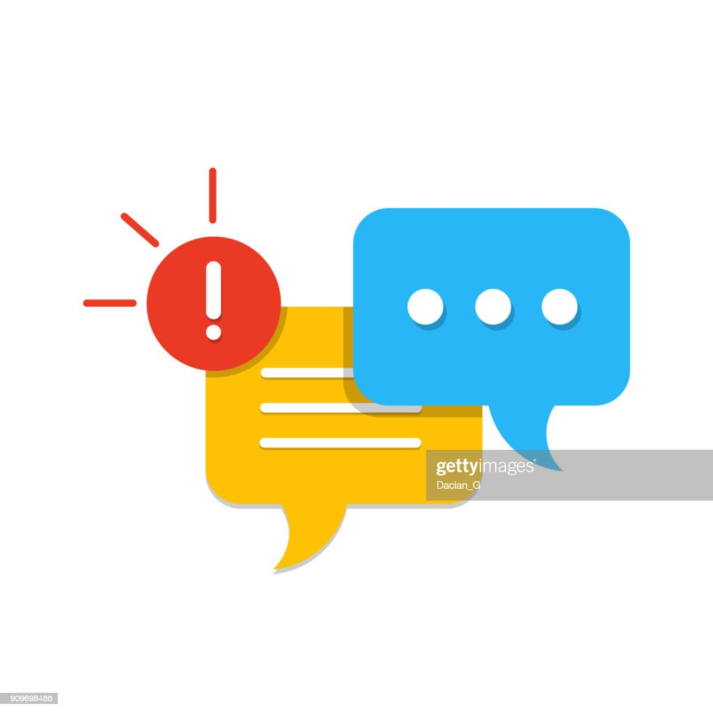 New Message, Dialog, Chat Speech Bubble Notification flat icon vector
