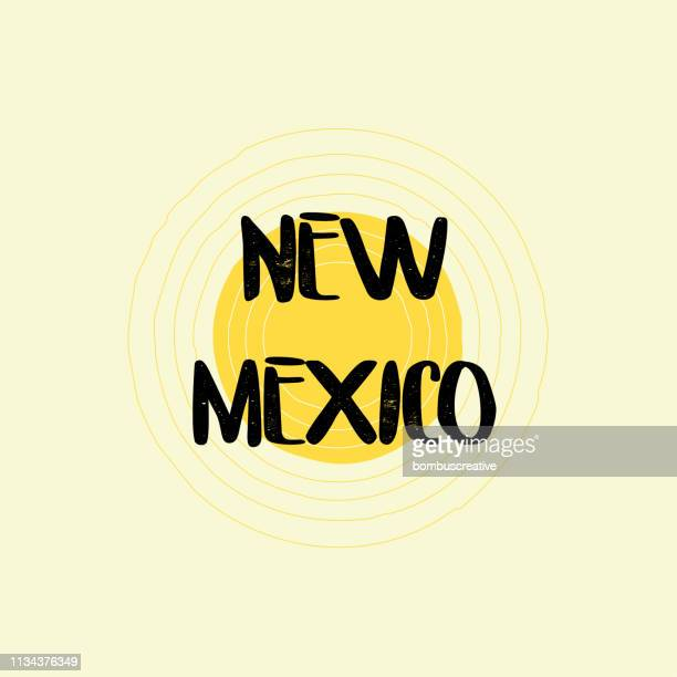 new mexico lettering design - southwest usa stock illustrations, clip art, cartoons, & icons