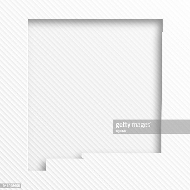 new mexico map with paper cut on abstract white background - new mexico stock illustrations