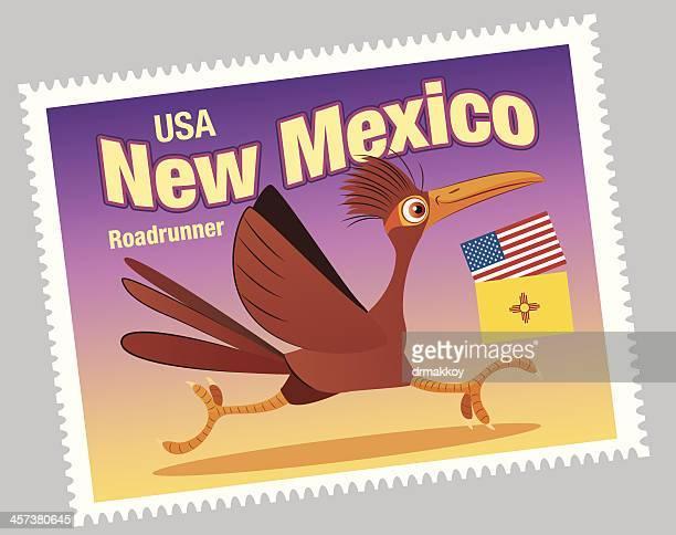 ilustraciones, imágenes clip art, dibujos animados e iconos de stock de sello de nuevo méxico - correcaminos