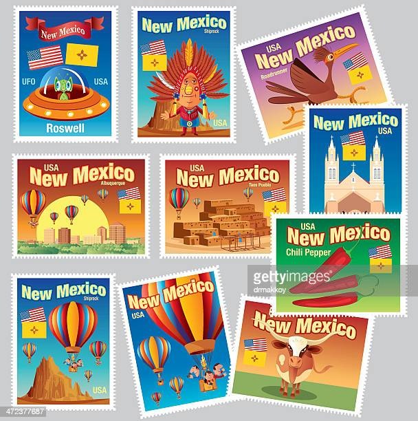 new mexico stamps - new mexico stock illustrations
