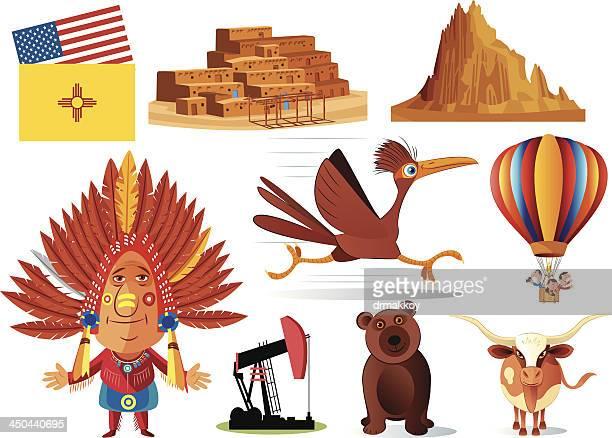 new mexico symbols - new mexico stock illustrations