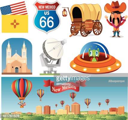 New Mexico Symbols Vector Art Getty Images
