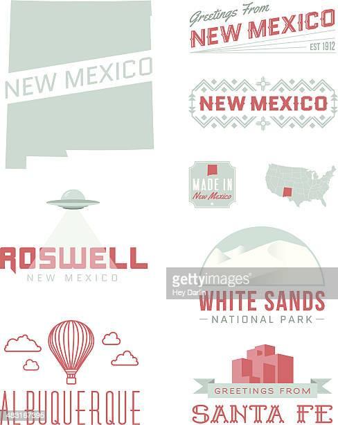 new mexico typography - new mexico stock illustrations