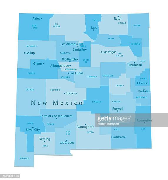 new mexico vector map isolated - new mexico stock illustrations