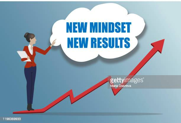 new mindset and new results - attitude stock illustrations