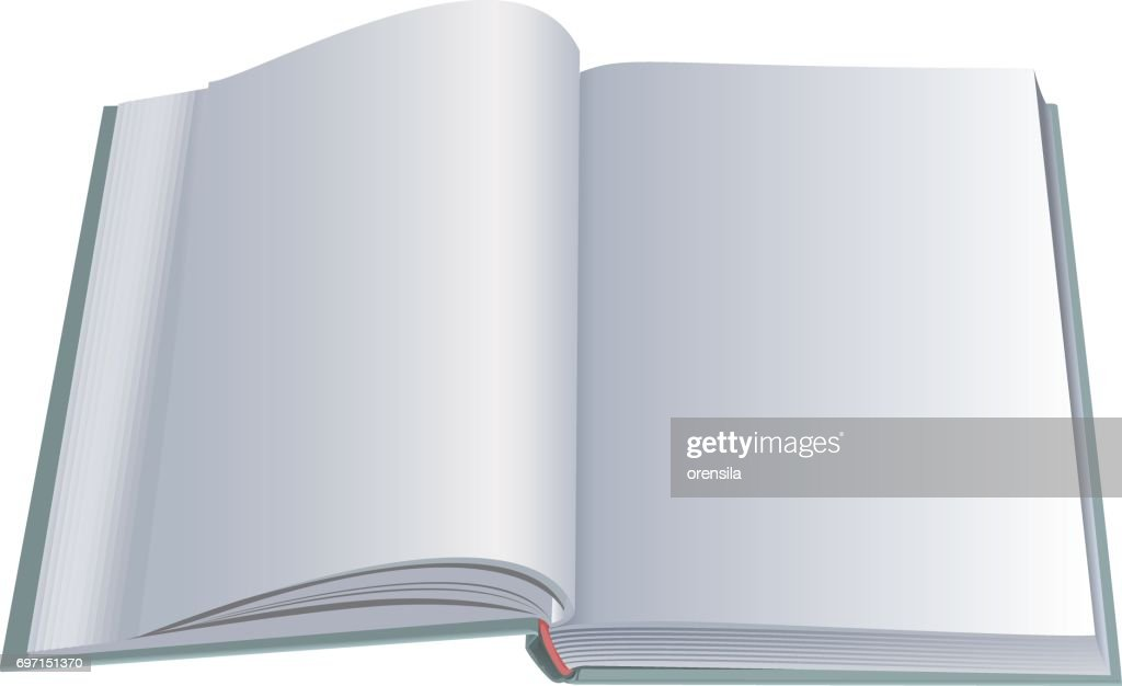 New open book with clean blank sheets