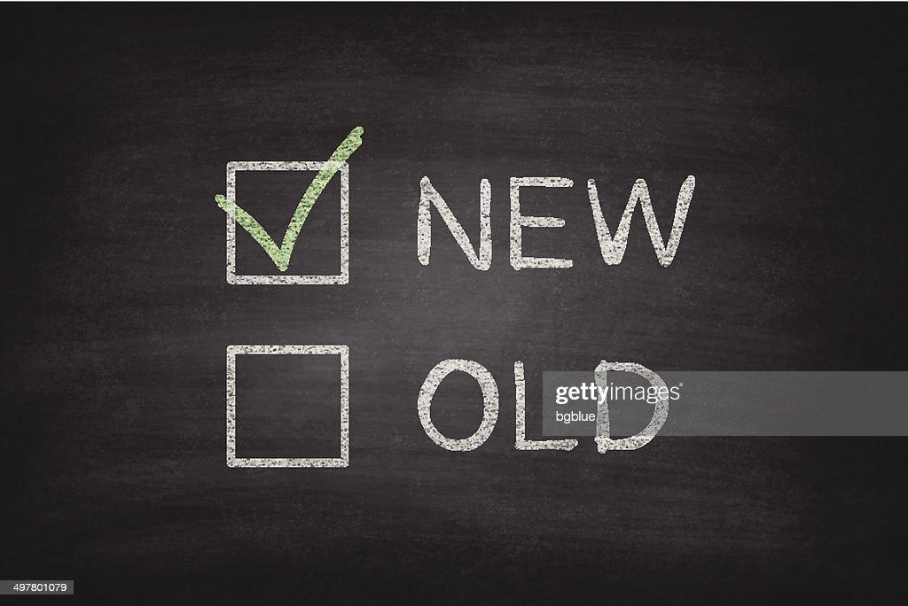 New or Old Checkboxes on Blackboard - Chalkboard