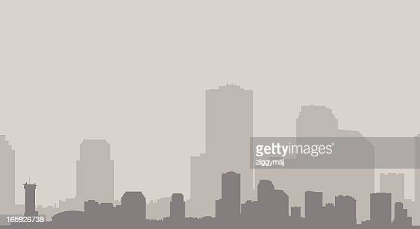 ニューオーリンズの街並み、グレイ - ニューオリンズ点のイラスト素材/クリップアート素材/マンガ素材/アイコン素材