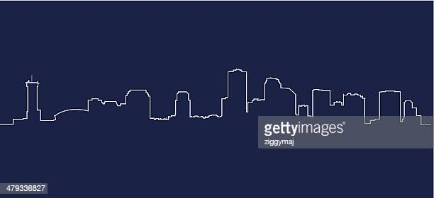 new orleans skyline - new orleans stock illustrations, clip art, cartoons, & icons