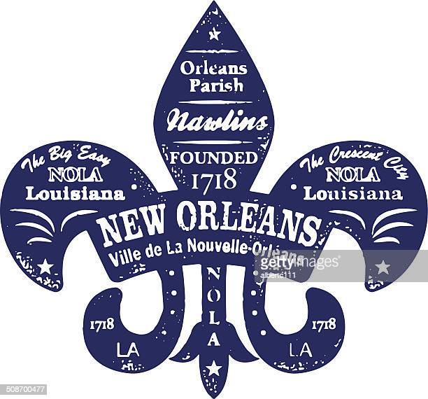 new orleans typo stamp - new orleans stock illustrations, clip art, cartoons, & icons