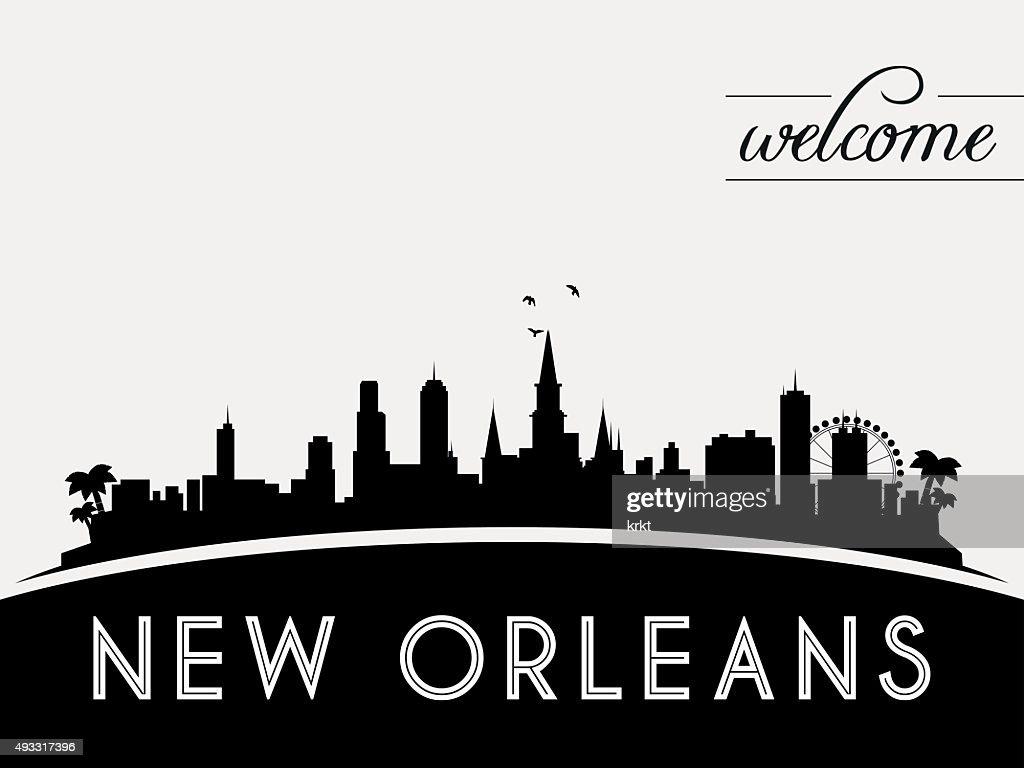 New Orleans USA skyline silhouette