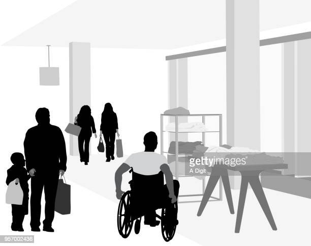 new outfits - disability collection stock illustrations