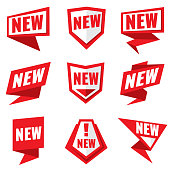 New product status vector labels