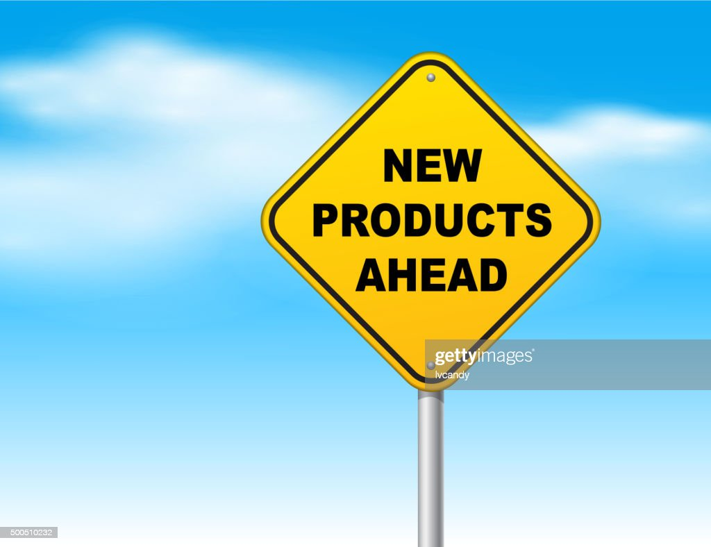 New products ahead : stock illustration