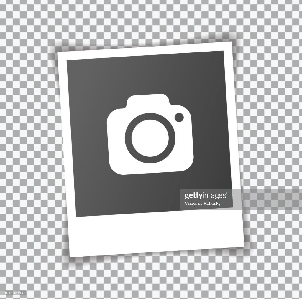 New Realistic Square frame template with shadows. Isolated on transparent background. Vector illustration EPS 10