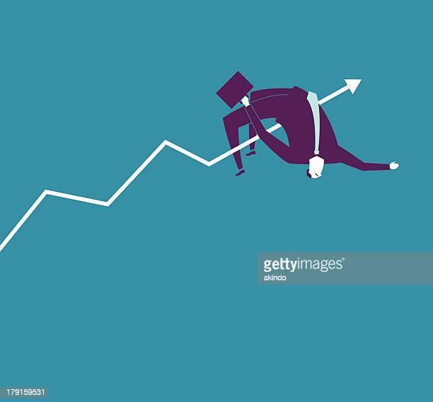 new record - high jump stock illustrations