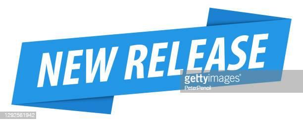 new release - banner, speech bubble, label, ribbon template. vector stock illustration - releasing stock illustrations