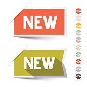 New Retro Paper Vector Labels - Stickers