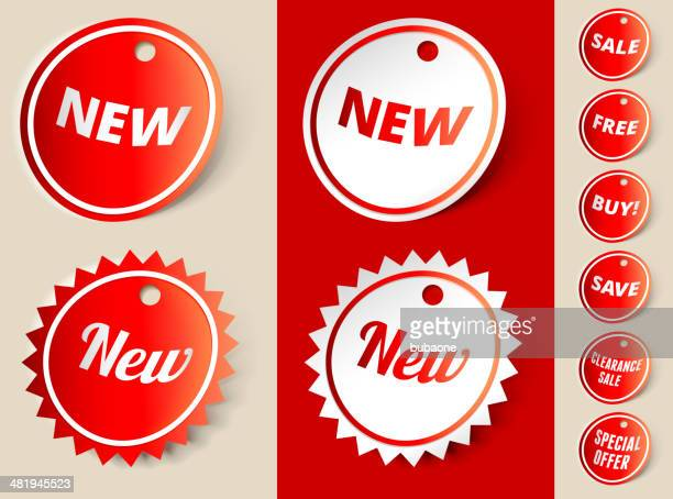 New Sale Sign Ribbon Tag