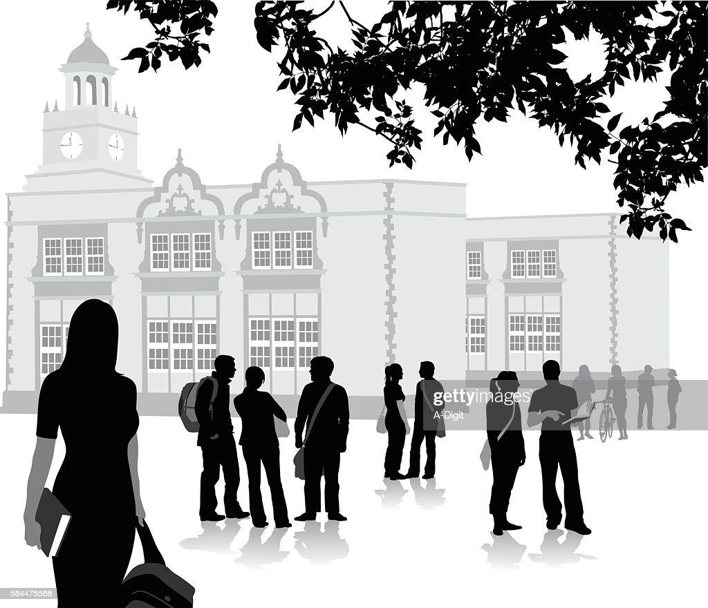 New Semester At Highschool : Stock Illustration