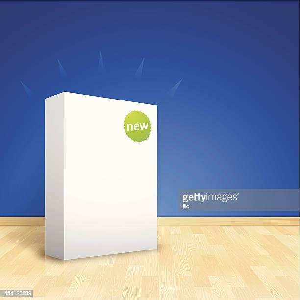 new software box - retail display stock illustrations