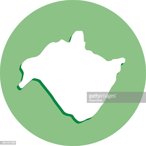 New South Wales Round Map Icon