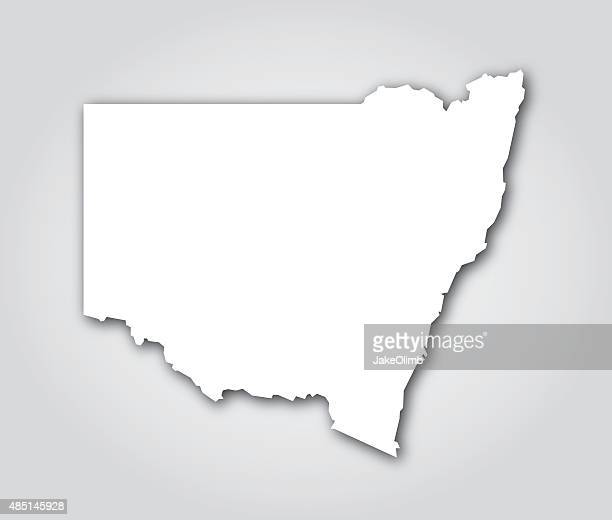 new south wales silhouette white - new south wales stock illustrations