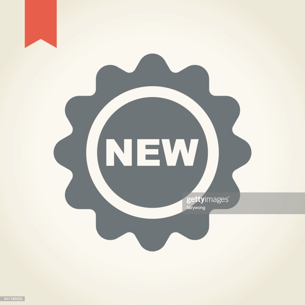 New tag icon : stock illustration