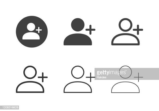 new user icons - multi series - profile view stock illustrations
