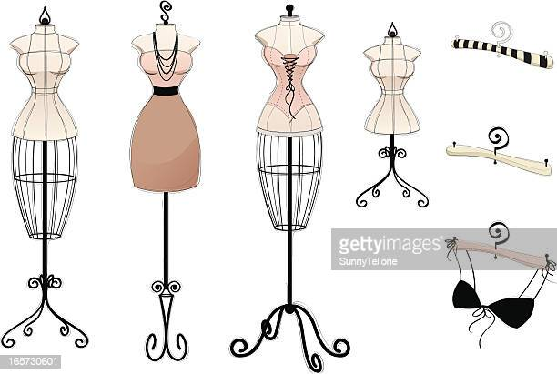 new vintage collection - mannequin stock illustrations, clip art, cartoons, & icons
