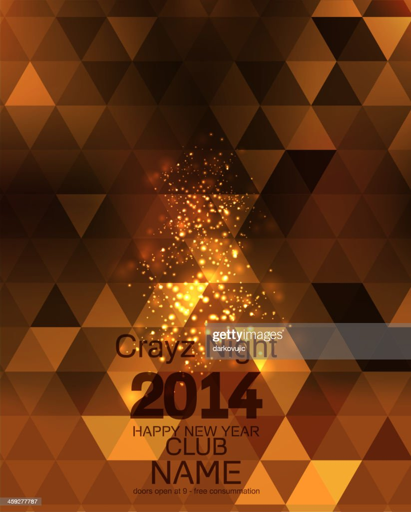 New Year 2014 .Flyer Template