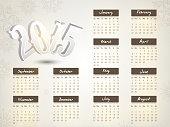 New Year 2015 calendar design.