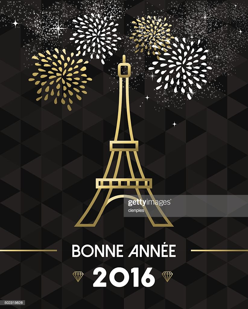 New Year 2016 Paris France travel Eiffel gold