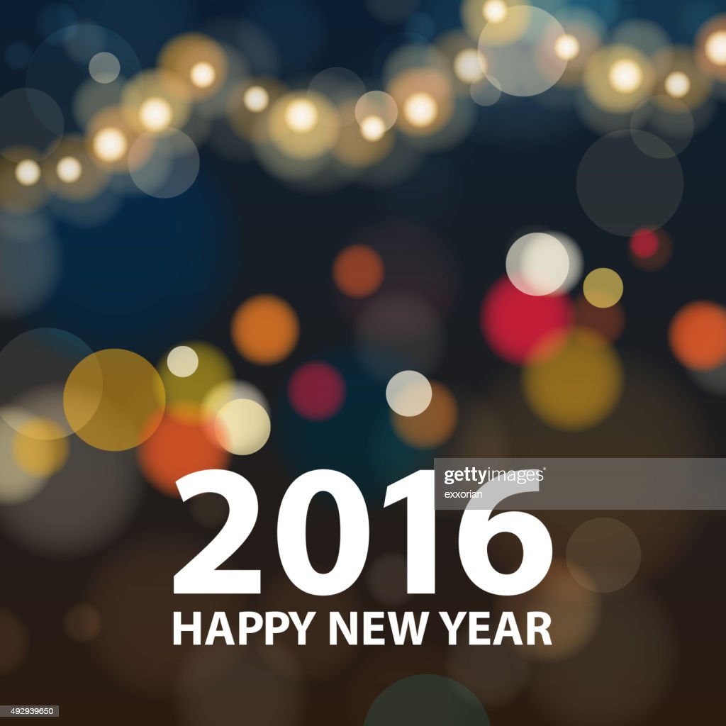 New Year 2016 sparkling background