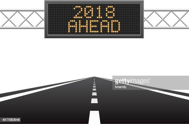 new year 2018 ahead - retail display stock illustrations, clip art, cartoons, & icons